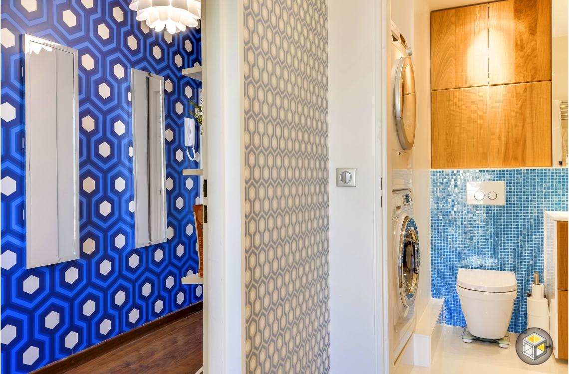 entrée salle de bain couleurs décoration